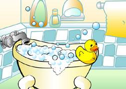 Un baño relajante