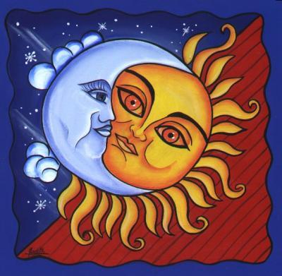 Historia de amor entre la LUNA y el SOL